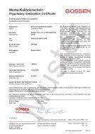 Werks-Kalibrierzertifikat